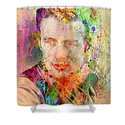 James Dean Shower Curtain by Mark Ashkenazi