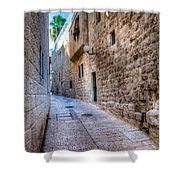 Jerusalem Street Shower Curtain