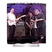 Guitarists Jimmie Vaughan And Duke Robbilard Shower Curtain