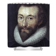 John Donne (1572-1631) Shower Curtain