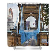 John Roebling Bridge 1867 Shower Curtain