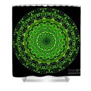 Kaleidoscope Of Glowing Circuit Board Shower Curtain