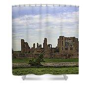 Kenilworth Castle Panorama Shower Curtain