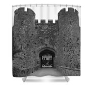 Keys To The Castle - Black And White Shower Curtain