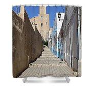 Khalaf Al-fata Lighthouse Shower Curtain