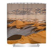 Khongor Sand Dunes In Winter Gobi Desert Shower Curtain