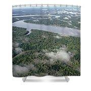 Kikori River In The Rainforest Kikori Shower Curtain