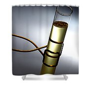 Laboratory Test Tube In Science Research Lab Shower Curtain