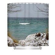 Lake Michigan In December Shower Curtain
