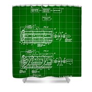 Laser Patent 1958 - Green Shower Curtain