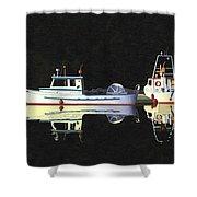 Last Light  Island Moorage Shower Curtain