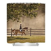 Last Ride Of The Day Shower Curtain