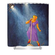 Latina Jazz Diva Shower Curtain