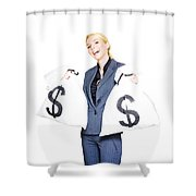 Laughing All The Way To The Bank Shower Curtain