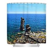 Le Colonne - San Pietro Island Shower Curtain
