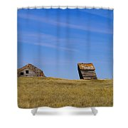 Leaning Into The Years Shower Curtain by Jeff Swan