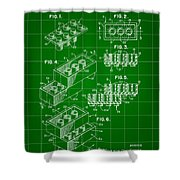 Lego Patent 1958 - Green Shower Curtain