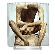 Lehmbruck's Seated Youth Shower Curtain