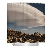 Lenticular Clouds Over Alabama Hills Shower Curtain