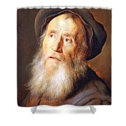 Lievens' Bearded Man With A Beret Shower Curtain