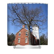 Lighthouse - 40 Mile Point Michigan Shower Curtain