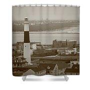 Lighthouse - Atlantic City Shower Curtain
