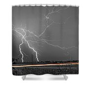 Lightning Thunderstorm Dragon Shower Curtain by James BO  Insogna