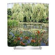 Lily Pond - Monets Garden Shower Curtain