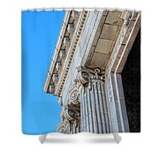 Lincoln County Courthouse Columns Looking Up 02 Shower Curtain