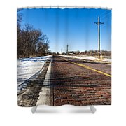 Lincoln Highway Shower Curtain