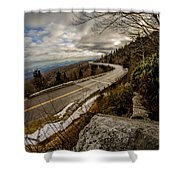 Linn Cove Viaduct During Winter Near Blowing Rock Nc Shower Curtain