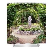 Lion Head Fountain Shower Curtain