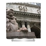 Lion New York Public Library Shower Curtain