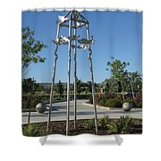 Little Chico Creek Sculpture Shower Curtain