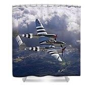 Lockheed P-38 Lightning Shower Curtain