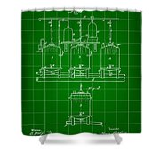 Louis Pasteur Beer Brewing Patent 1873 - Green Shower Curtain