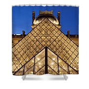 Louvre Pyramid Shower Curtain