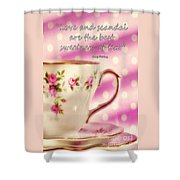 Love And Scandal Shower Curtain
