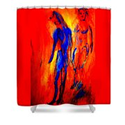 If I Tell You Love Is In The Air You Will Believe That Love Is In Your Ear  Shower Curtain