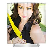 Love Letter Shower Curtain