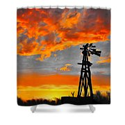 Lubbock Skyline Shower Curtain