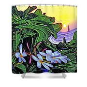2 Mai Tais Waikiki Hawaii Shower Curtain