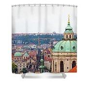 Mala Strana In Prague Shower Curtain
