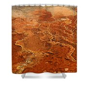 Mammoth Hot Springs Shower Curtain