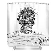 Man Head Shower Curtain