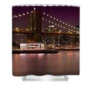 Manhattan By Night Shower Curtain