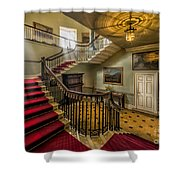 Mansion Stairway Shower Curtain