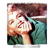 Marilyn Monroe Large Size Portrait Shower Curtain