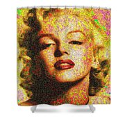 Marilyn Monroe - 100 Dollars Shower Curtain