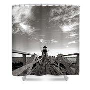 Marshall Point Light Shower Curtain